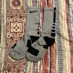 Grey Nike elite socks